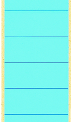 photo of Rugetiket Leitz breed/lang 62x285mm zelfklevend blauw
