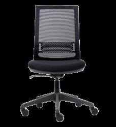 photo of Bureaustoel Euroseats Canillo netgespannen rug zwart
