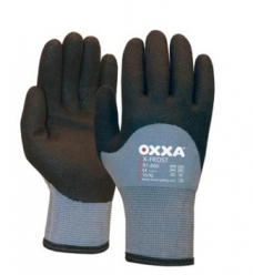 photo of Werkhandschoenen OXXA X-Frost acryl met HTP coating 10/XL zwart/grijs