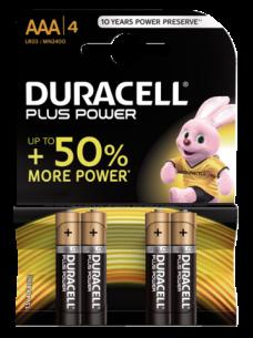 photo of Batterij Duracell Plus Power 4xAAA alkaline