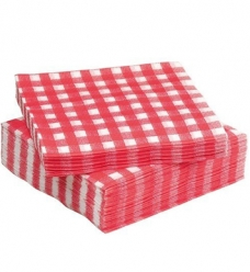 photo of Servet Tork 33cm x 33cm rood geruit 1 laags