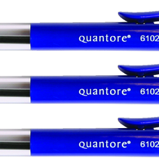 photo of Balpen Quantore drukknop blauw medium