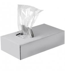 photo of Plastic zak ldpe met zijvouw 7cm x 2.25 x 18cm 20µm ongeperforeerd onbedrukt