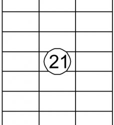 photo of Etiket Quantore 70x38.1mm 2100stuks