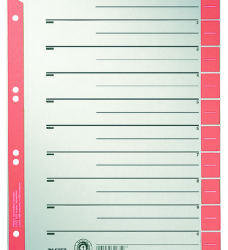 photo of Scheidingsbladen Leitz A4 karton 230gr 6-gaats rood