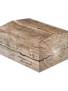 photo of Pakketdoos B 39cm x 29cm x 13cm bruin houtblok