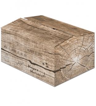 Pakketdoos B 39cm x 29cm x 13cm bruin houtblok  Product image