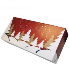 photo of Stoldoos 34cm x 16cm x 8cm rood/wit kerst twinkel