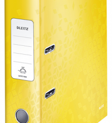 photo of Ordner Leitz WOW 180° A4 80mm karton geel