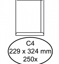 photo of Envelop Hermes digital akte C4 229x324mm zelfklevend wit 250stuk