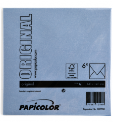 photo of Envelop Papicolor 140x140mm Donkerblauw