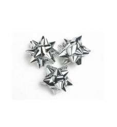 photo of Starbows metallic 25mm zilver met plakker