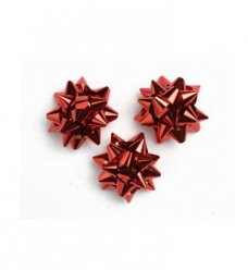 photo of Starbows metallic 25mm rood met plakker