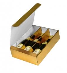 photo of Geschenkdoos 3 fles metallic goud