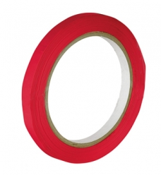 photo of Zaksluittape pvc 9mm x 66m rood