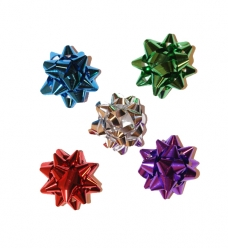 photo of Starbows metallic 25mm assorti kleuren met plakker