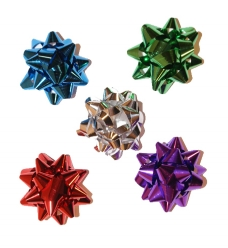 photo of Starbows metallic 40mm assorti kleuren met plakker