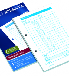 photo of Kasspecificatie Atlanta A6 100vel