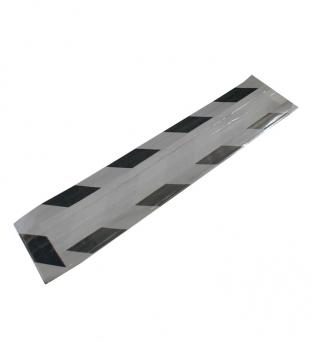 Fleszak gebleekt wit kraft 10cmx 4cm  x 41cm zilver/zwart met venster Product image