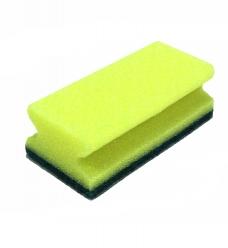 photo of Sorbo schuurspons met handgreep 14cm x 7cm geel