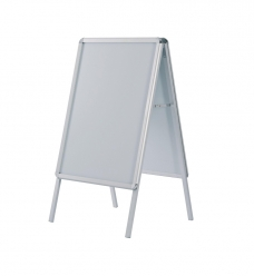photo of Stoepbord met kliklijsten 50cm x 70cm   aluminium