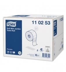 photo of Toiletpapier Tork mini T2 110253 10cm x170m 2 lagen wit premium