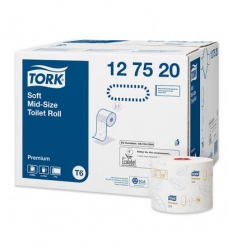 photo of Toiletpapier Tork compact T6 127520 10cm x90m 2 lagen wit premium