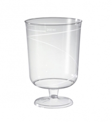 photo of Sherry glas op voet plastic    100ml transparant