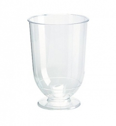 photo of Wijnglas op voet plastic    185ml transparant