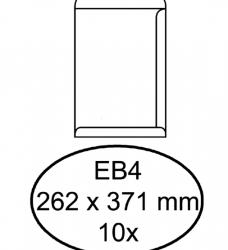 photo of Envelop Hermes akte EB4 262x371mm zelfklevend wit 10stuks