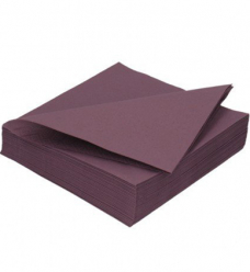 photo of Servet Duni 33cm x 33cm plum 2 laags