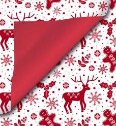 photo of Cadeaupapier kerst 30cm x 200m 091 gecoat dubbelzijdig papier 70gr / m2