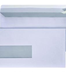 photo of Envelop Quantore 110x220mm venster 3x10cm links zelfkl 25st