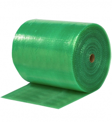 photo of Luchtkussenfolie 50cm x 100m groen transparant 50µm LDPE 100% recycled