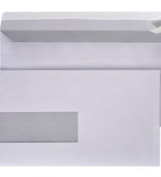 photo of Envelop Quantore 110x220mm venster 3x10cm links 500stuks