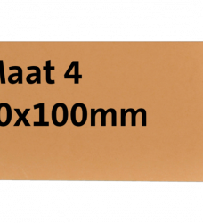 photo of Label karton nr4 200gr 50x100mm chamois 1000stuks