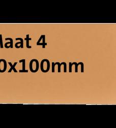 photo of Label karton nr4 200gr 50x100mm chamois 1000stuks