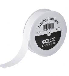 photo of Tekststempel Colop E-Mark katoenen lint 25mm x 25m