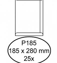 photo of Envelop Hermes akte P185 185x280mm zelfklevend wit 25stuks