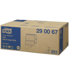 photo of Handdoekjes H1 advanced  x21cm tork H1 290067 op rol met  doppen 2 lagen wit