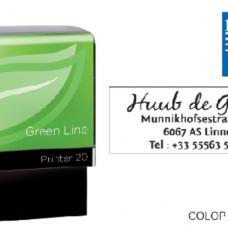 photo of Tekststempel Colop 20 green line+bon 4regels 38x14mm