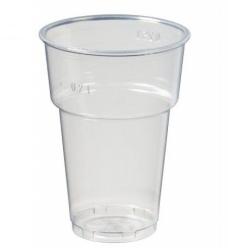 photo of Bierglas met schuimkraag plastic    250ml transparant