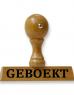photo of Houten woordstempel GEBOEKT