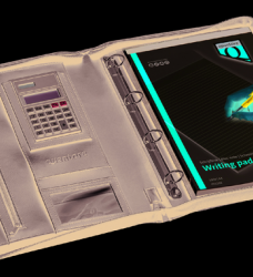 photo of Schrijfmap Quantore A4 met rits en calculator