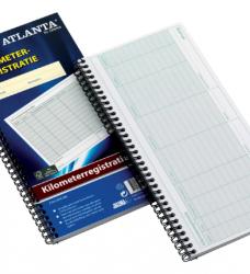 photo of Kilometer registratieboek Atlanta 40x2vel met spiraal