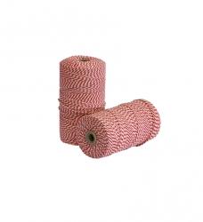 photo of touw katoen rood wit 500 gram