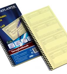 photo of Terugbelboek Atlanta 74x128mm 160 notities 40vel