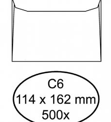 photo of Envelop Hermes bank C6 114x162mm wit 500stuks
