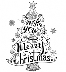 photo of Houten woordstempel wish you a merry christmas