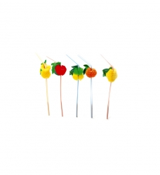 photo of Buig rietje 24cm 5mm assorti fruit